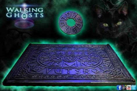 Glass Topped Table Ouija Spirit Talking Board Celtic Clairvoyant Divination